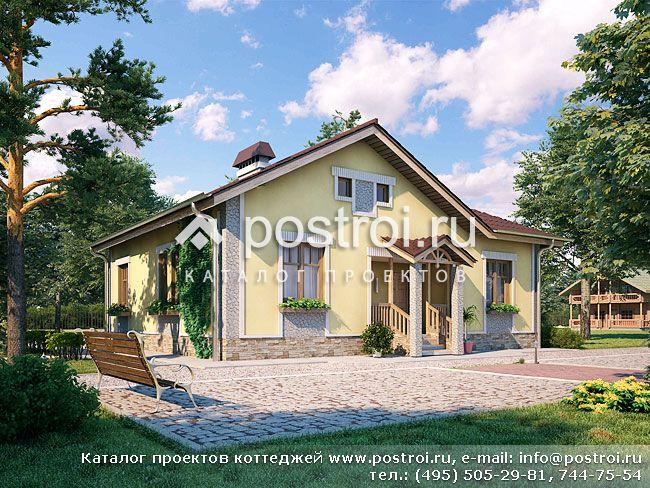 Одноэтажный дом отлично подойдет для небольшой семьи